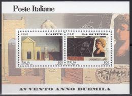 ITALIEN  Block 21, Postfrisch **, Eintritt In Das Jahr 2000 (III): Kunst Und Wissenschaft, 2000 - Blocchi & Foglietti
