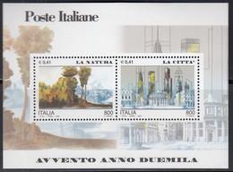 ITALIEN  Block 23, Postfrisch **, Eintritt In Das Jahr 2000 (IV): Natur Und Stadt, 2000 - Blocchi & Foglietti