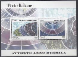 ITALIEN  Block 24, Postfrisch **, Eintritt In Das Jahr 2000 (V): Mensch Und Weltraum, 2000 - Blocchi & Foglietti