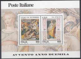 ITALIEN  Block 25, Postfrisch **, Eintritt In Das Jahr 2000 (VI): Krieg Und Frieden, 2000 - Blocchi & Foglietti