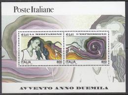 ITALIEN  Block 26, Postfrisch **, Eintritt In Das Jahr 2000 (VII): Überlegung Und Ausdruck, 2000 - Blocchi & Foglietti