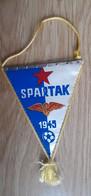 Vintage Pennant Football Soccer Club FK Spartak Subotica Serbia Ex Yugoslavia 12x17cm - Abbigliamento, Souvenirs & Varie