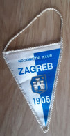 Vintage Pennant Football Soccer Club NK Zagreb Croatia Ex Yugoslavia 95x135mm - Abbigliamento, Souvenirs & Varie