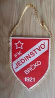 Vintage Pennant Football Soccer Club FK Jedinstvo Brcko Bosnia Ex Yugoslavia 90x115mm - Abbigliamento, Souvenirs & Varie