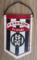 Vintage Pennant Football Soccer Club FK Kosor Blagaj Brcko Bosnia Ex Yugoslavia 75x120mm - Abbigliamento, Souvenirs & Varie