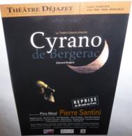 Carte Postale - Cyrano De Bergerac (Edmond Rostand) Pierre Santini - Théâtre Déjazet - Advertising