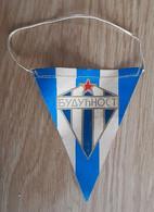 Vintage Pennant Football Soccer Club FK Buducnost MonteNegro Ex Yugoslavia 95x120mm - Abbigliamento, Souvenirs & Varie