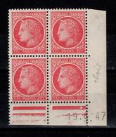 Coin Daté YV 676 N** Ceres De Mazelin Du 19.9.47 , 1 Point - 1940-1949