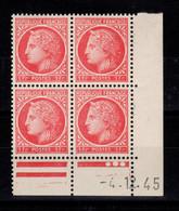 Coin Daté YV 676 N** Ceres De Mazelin Du 4.12.45 , 3 Points - 1940-1949