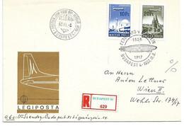 3155p: Ungarn, Zeppelin- Sonderstempel 1967 - Zeppelin