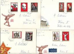 3155r: Ungarn, Die Ersttagskuverts Zu Den Sondermarken- Ausgaben Räterepublik, Lenin, Marx- KP- Motive Ab 1969 - Lenin