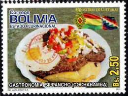 Bolivia 2018 **  CEFIBOL 2386 (2011 #2116) National Gastronomy: Silpancho, Authorized By The Bolivian Post Office - Bolivia
