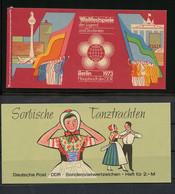 1973, DDR, MH 7 U.a., ** - Markenheftchen