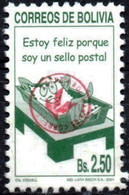 """Bolivia 2018 **  CEFIBOL 2387  (2001 #1752  """"I Am A Postal Stamp"""", Authorized For The Bolivian Post Office. 100 Known - Bolivia"""