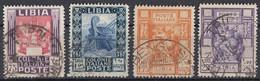 LIBIA, COLONIA ITALIANA-1921 - Lotto Di 4 Valori Usati: Yvert 60/63. - Libia