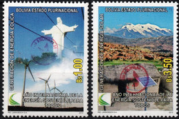 Bolivia 2018 **  CEFIBOL 2383-84  (2012 #2171-72)  150 Series Known.  Renewable Energy: Solar And Wind, Enabled AgBC - Bolivia