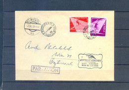 ROMANIA  COVER 1958 CIRCULED TO WIEN WITH AUSTRALIAN AIRLINES - Cartas