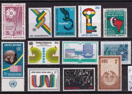 UN New York, Selection, MNH 12x - Sonstige