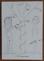Adam & Eve Carte Postale - Advertising