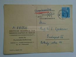 D184712 Germany  Cancel 1959 Leipzig -  Werbestempel Deutsche Lufthansa Messe-Sonderflugverkehr -Deutsche Akademie - Briefe U. Dokumente