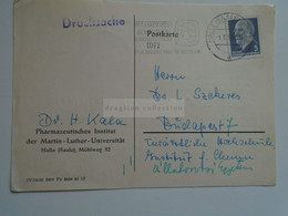 D184714 Germany  Cancel  1963 HAALE (SAALE) - Weltkongress Der Frauen  Moskau  Moscow - Dr. H.Kala  Pharmaceutical Univ. - Briefe U. Dokumente