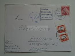 D184715 Germany  Cancel  1967 Bad Godesberg -  5 Berliner Theaterwoche - Porto -Postage Due Ungarn Hungary  Esztergom - Briefe U. Dokumente