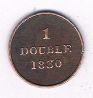 1 DOUBLE 1830 GUERNSEY /7823/ - Guernsey