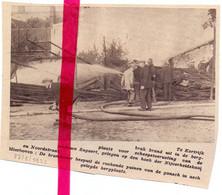 Orig. Knipsel Coupure Tijdschrift Magazine - Kortrijk - Brand Nijverheidskaai , Brandweer, Pompiers Aan Het Werk - 1933 - Sin Clasificación