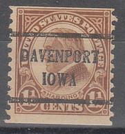 USA Precancel Vorausentwertungen Preos, Bureau Iowa, Davenport 598-43 - Precancels