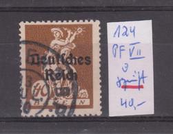 MiNr. 124 VII Geprüft - Plattenfehler