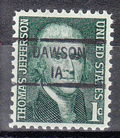 USA Precancel Vorausentwertungen Preos, Locals Iowa, Dawson 841 - Precancels