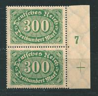 MiNr. 249 I **  Nr.7 + Passerkreuz - Plattenfehler