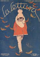 COP 91 - COPERTINA ORIGINALE - LA LETTURA - NOVEMBRE 1929 - FIRMATA ENRICO SACCHETTI - Non Classés
