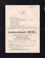 ROUCOURT PERUWELZ BOEL Louis Lieutenant Général En Retraite 1838-1914 Commandant Cavalerie éléphant Blanc SIAM Civiles - Obituary Notices