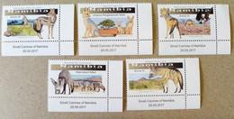 Namibia 2017.  Fauna. Animals. Canines. Jackal, Foxes.  MNH. - Namibia (1990- ...)