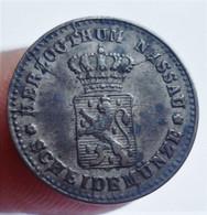 GERMAN STATES NASSAU KREUZER 1861. SILVER. ARGENT. GERMANY. ALLEMAGNE. - Sonstige