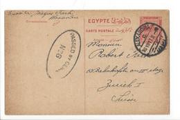 29002 - Entier Postal Egypte Cachet Alexandria 30.07.1917  Pour Zürich + Cachet  Censure Passed By Censor N 26 - 1915-1921 British Protectorate
