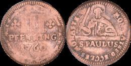 Allemagne - Cathédrale De Munster - 1760 - III Pfenning - S. PAULUS - H055 - Taler & Doppeltaler