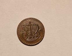 -1 Piece-5-Mils--Republique--1974--Chypre--Bronze---( Qualité-en-SUP+++++++- - Chipre