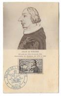 81 SM - SALON DE LA MARINE 1945 -JEAN DE VIENNE -  Cachet à Date  1  Juillet 1945 - Posta Marittima