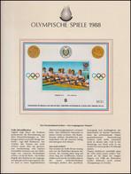 Olympische Spiele 1988 Seoul - Paraguay 1 Block Deutschland Achter Rudern ** - Otros