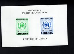 1366005889 1960 SCOTT C124A (XX) POSTFRIS MINT NEVER HINGED EINWANDFREI  - WORLD REFUGEE YEAR - Liberia