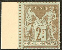 (*) Tirage Sur Bristol. 2f Bistre-azuré, Bdf, Superbe. - R - 1876-1878 Sage (Typ I)