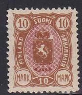 STAMPS-FINLAND-1889-UNUSED--MH*-10-MARK-SEE-SCAN - Ungebraucht