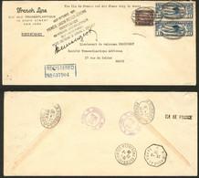 Lettre Ile De France. Poste 246 + USA PA 10(2), Sur Grande Enveloppe Recommandée De NY Pour Paris, Cad 23.8.28, Griffe S - Zonder Classificatie