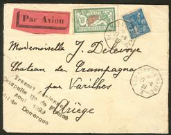 Lettre Ile De France. Catapulte. Griffe Spéciale Domergue, Août 1929 Sur Enveloppe Afft 207 + 257 Obl 27.8.29. - TB - Zonder Classificatie