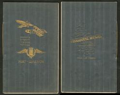 """Lettre Programme Officiel """"Grande Quinzaine De Paris-Port Aviation"""" 1909, 20 Pages. - TB - Zonder Classificatie"""