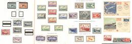 Collection. 1927-1987, Complète Sf N°3, 4, 6c, 6d, Qqs Doubles Et Multiples Dont 30/33 Sur FDC. - TB - Zonder Classificatie