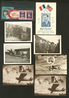 Lettre Lot. 1927-1930, 7 CP Neuves Dont Pilotes Costes Et Bellonte, 3 Photos De Lindbergh Au Bourget Et 4 VS. - TB - Zonder Classificatie