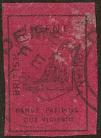 GUYANE BRITANNIQUE. No 5, Carmin Foncé, Pelurage Au Recto Mais TB D'aspect. - R - British Guiana (...-1966)